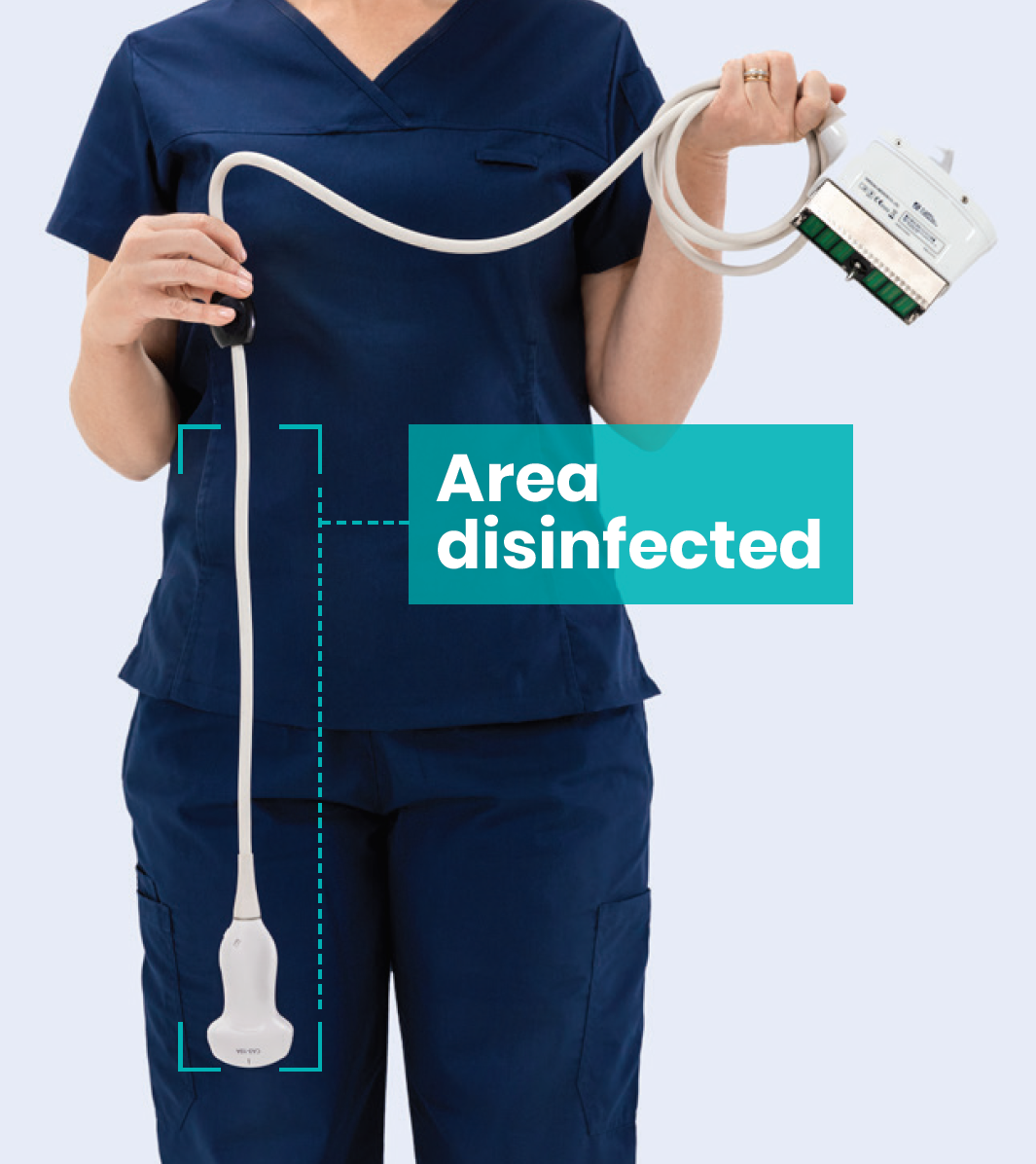 Chronos Ultrasound Probe Disinfection Area
