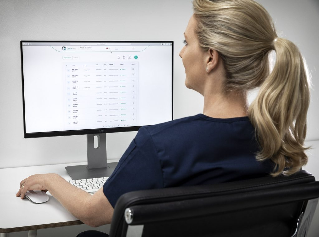 Germitrac Workstation Links Disinfection Cycles to Patent Records